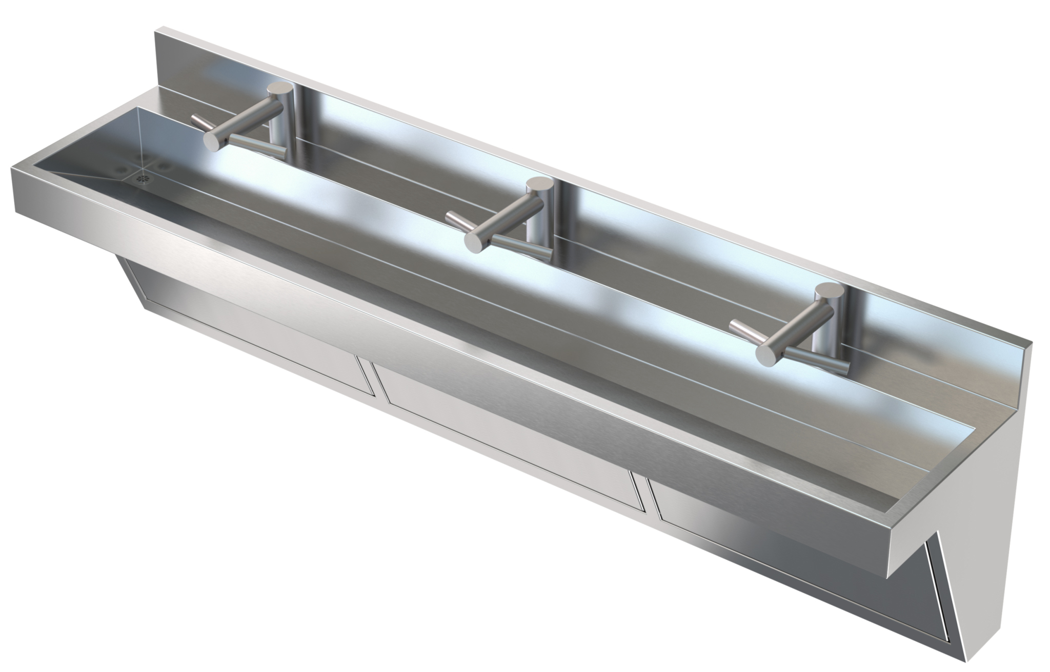 Commercial Stainless Steel Trough Sink   HWS Food Service All in