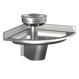 Corner Stainless Steel Wash Fountain