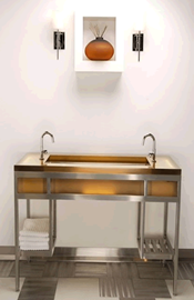 Cast Resin Console with EBB® Basin