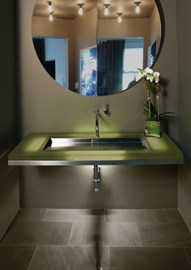 Wall-Mounted Cast Resin Deck with EBB® Basin