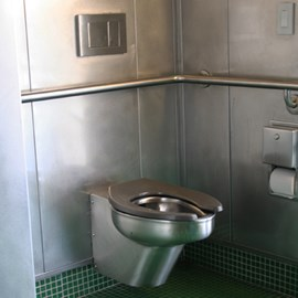 Euro-Urban Toilet Configured for In-Wall Flushing System