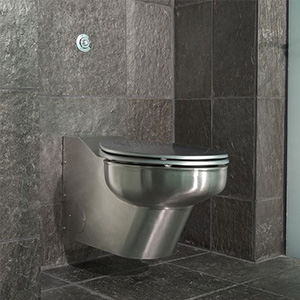 Contour In-Wall Carrier / Flush Stainless Steel Modern Toilet