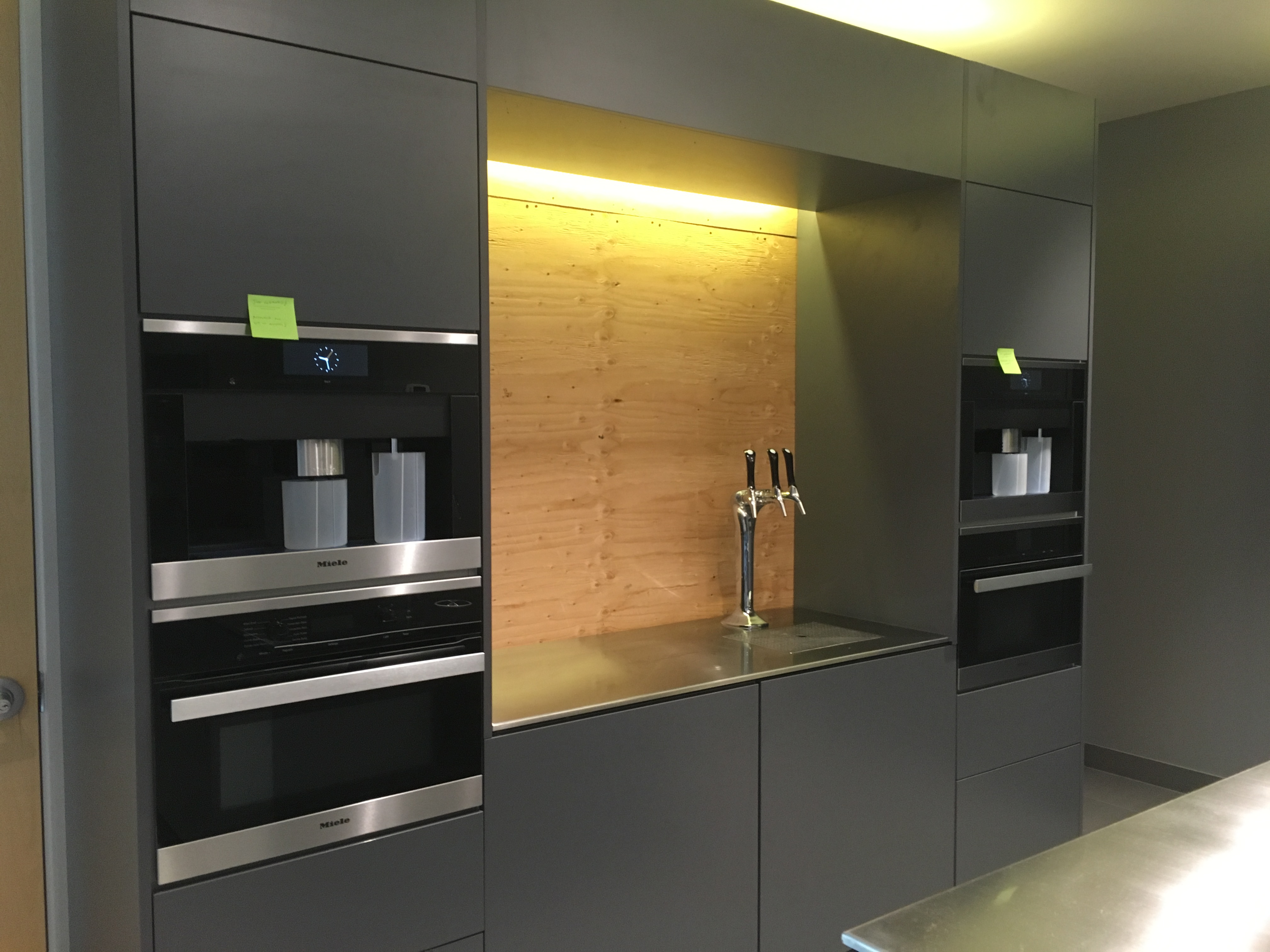 ... Custom Stainless Steel Office Kitchen Manufactured By Neo Metro (Coffee  Bar With Custom Backsplash To Come)