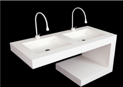 Neo Metro Solid Surface basin and countertop