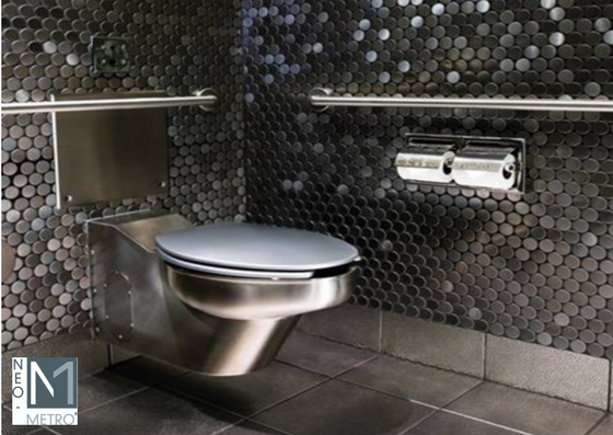 easy to clean wall mounted stainless steel toilet for commercial public restrooms