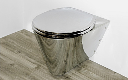 miniLOO Stainless Steel Small Toilet