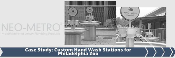 Custom Hand Wash Station at Philadelphia Zoo