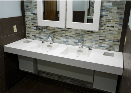 Neo-Metro Solid Surface basin and counter