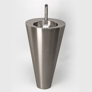 Stainless Steel Round Pedestal Sink Console