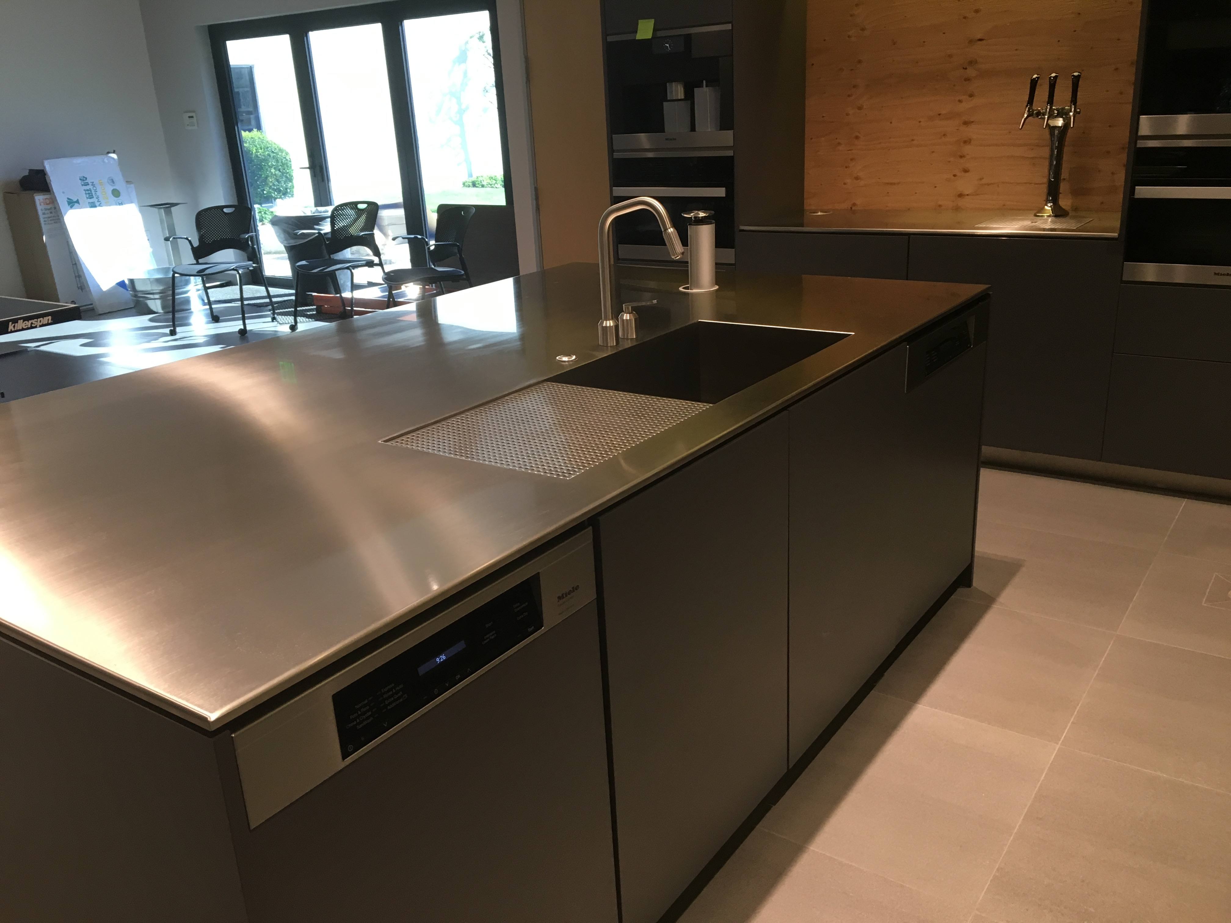 kitchen made portfolios steel page countertops with gas range hood custom vent stainless categories mckerlie portfolio a wolf shelving construction