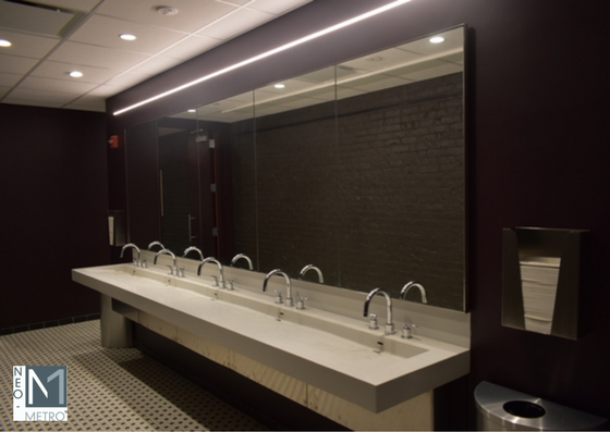 150 inch Ebb Basin for commercial bathroom design trends